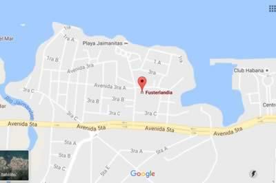 Fusterlandia, Havana, Cuba,map