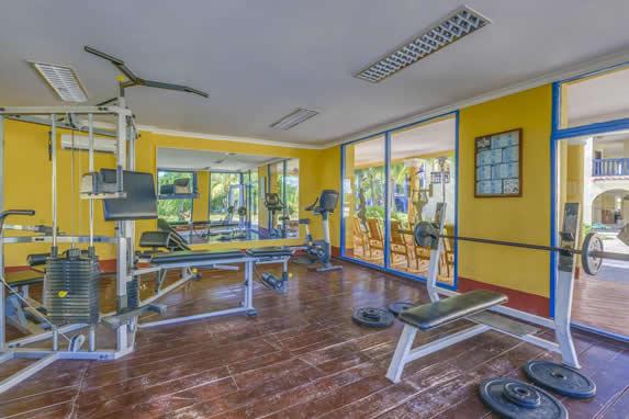 lighted indoor gym