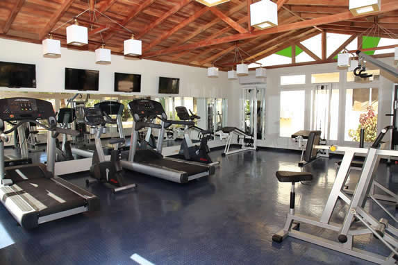 wooden roofed gym