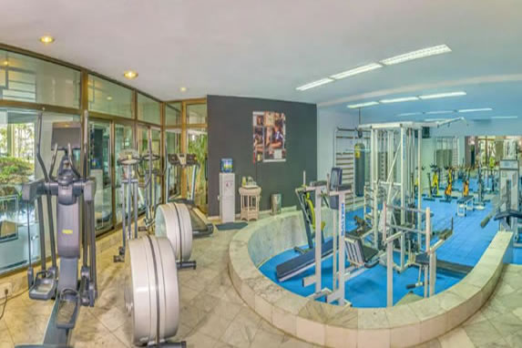 Hotel gym interior