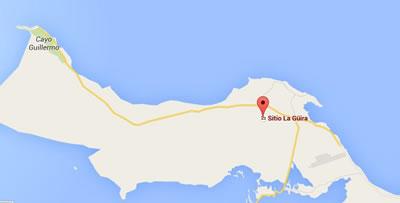 Sitio La GUIRA,Cayo Coco, Cuba, map