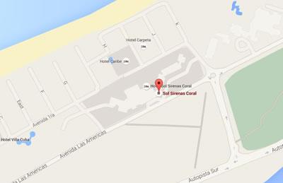 Cabaret Habana café, Varadero, Cuba,mapa