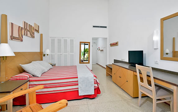Interior of room in hotel