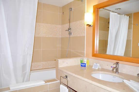 baño de la habitación con tina