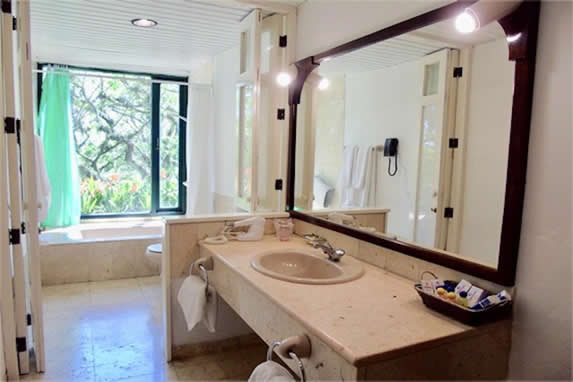 room bathroom with bathtub with a view