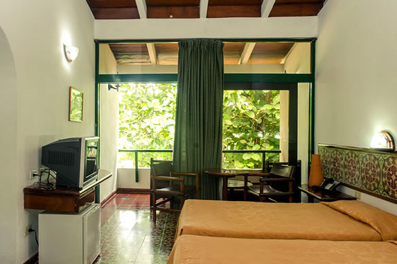 two-bed room with balcony