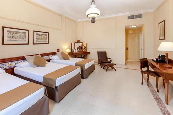 Sevilla hotel triple room