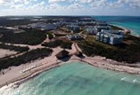 aerial view of hotel complex by the beach
