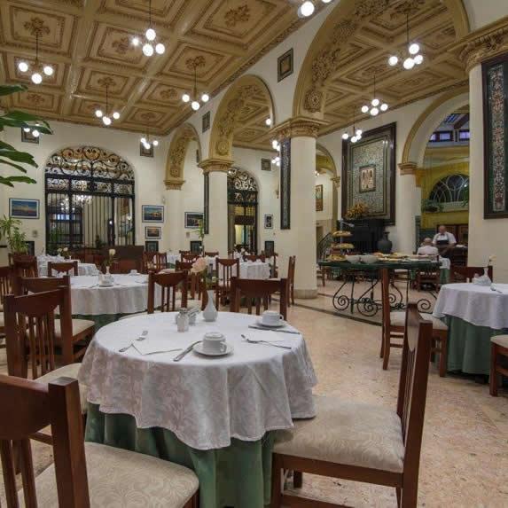 Elegant hotel buffet restaurant