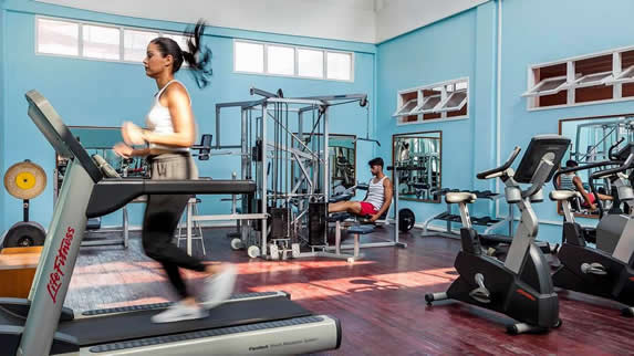 Hotel gym view