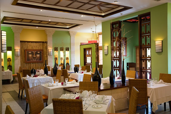 View of the interior of the restaurant