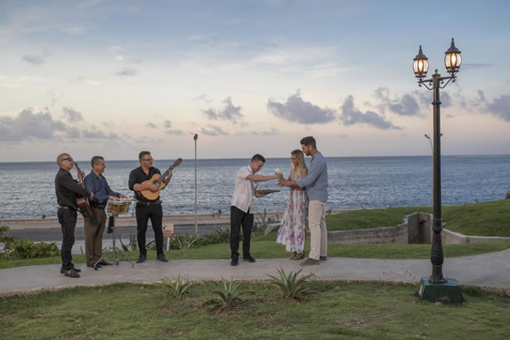 Live music overlooking the sea