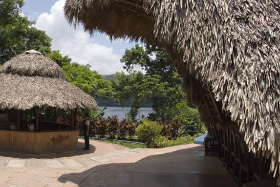 exterior overlooking the lagoon with vegetation