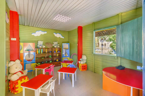 colorful children's furniture and toys