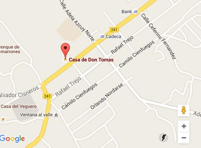Restaurant Casa de Don Tomás, Viñales, Cuba,mapa