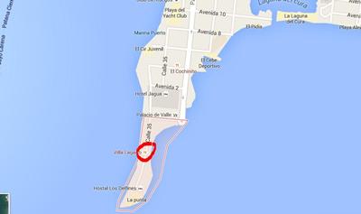 Restaurante Villa Lagarto, Cienfuegos, Cuba,mapa