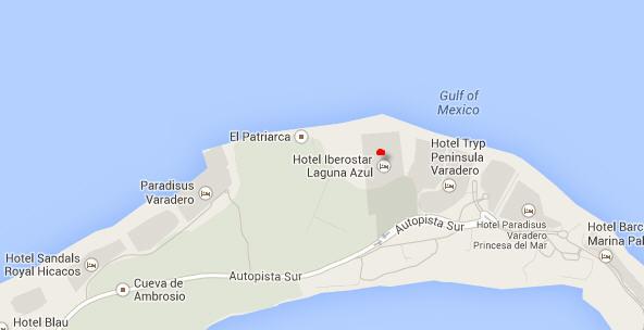 Hotel Iberostar Laguna Azul Mapa