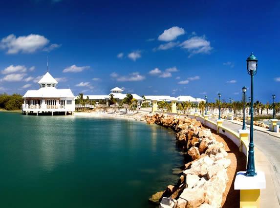 Lagoon around the hotel