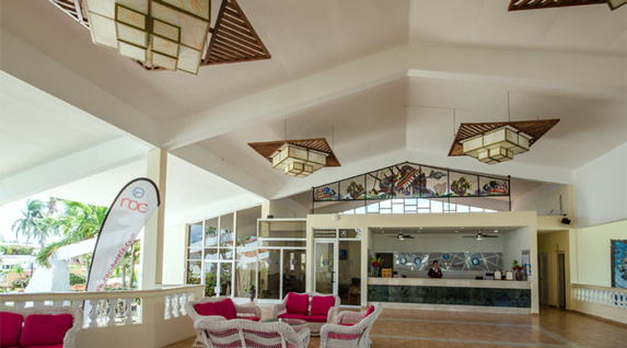 wicker furniture lobby and reception