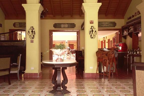 Lobby of the Caballeriza hotel, Holguin