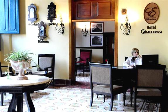 Lobby and hotel reception