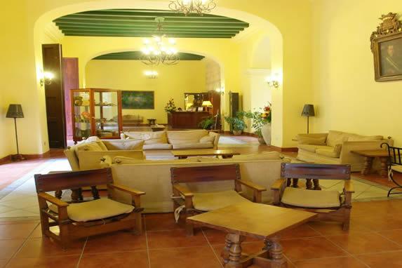 Conde de Villanueva hotel lobby and reception