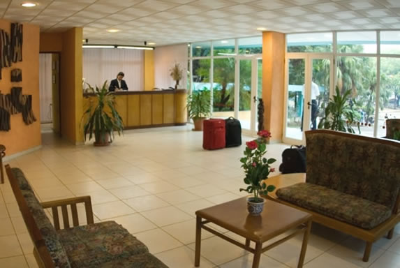 Lobby with furniture and reception