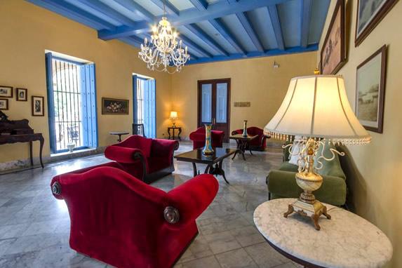 Lobby of the hotel Santa Isabel