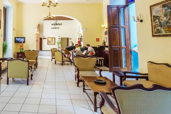 Hotel reception view