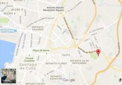 Parque histórico San Juan, Santiago de Cuba,mapa