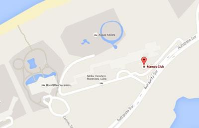 Mambo club, Varadero,Cuba,map