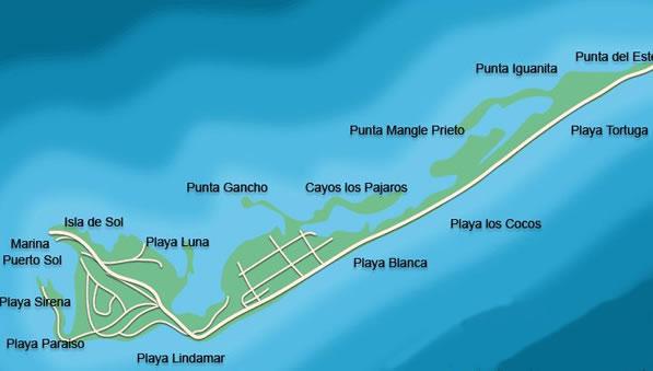 Playa lindamar, Mapa de ubicación