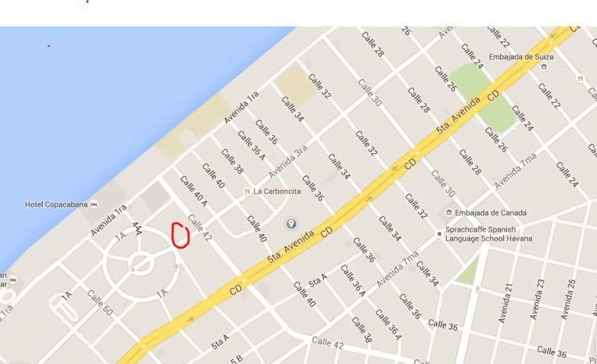 Melen Club,Habana, Cuba,mapa