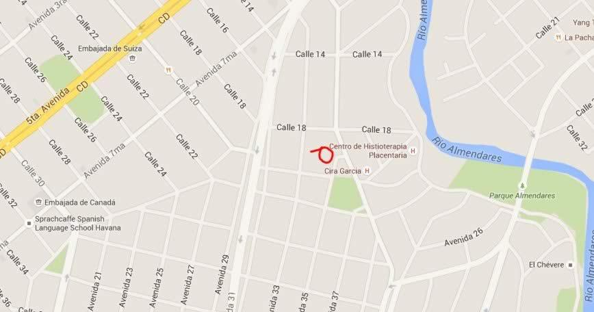 Casa de la Musica de Miramar, Havana, Cuba, map
