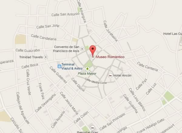 Romantic Museum,map,Trinidad, Cuba
