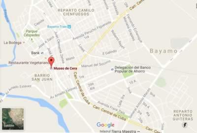 Museo de Cera, Bayamo, Granma, Cuba, mapa