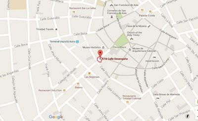 Restaurant Nueva Era, Trinidad, Cuba,map