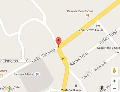 Restaurante El Olivo, Pinar del rio, Cuba,mapa