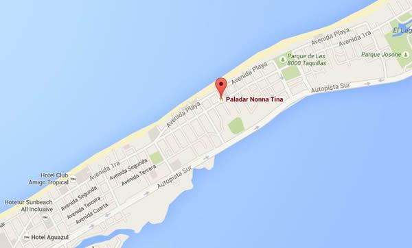 Restaurant  Donna Tinna, Varadero, Cuba,map