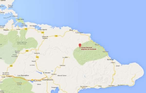 Parque Alejandro de Humbold,mapa, Granma, Cuba