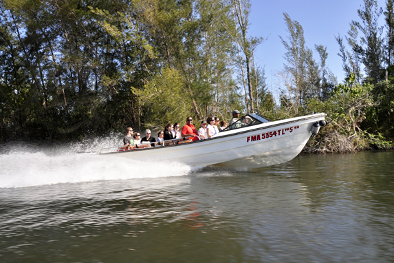 group of tourist boating in the lagoon