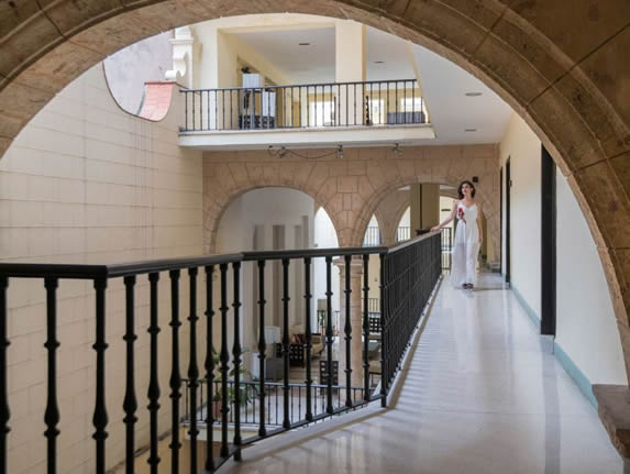 Corridor of the Palacio San Felipe hotel