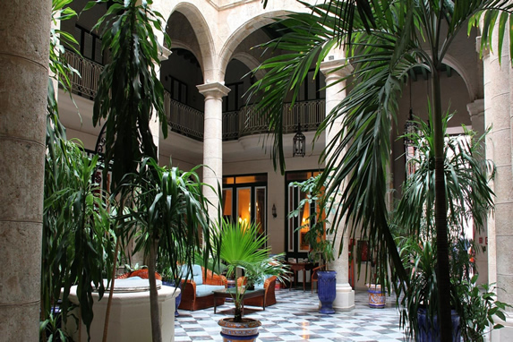 Inner courtyard with greenery