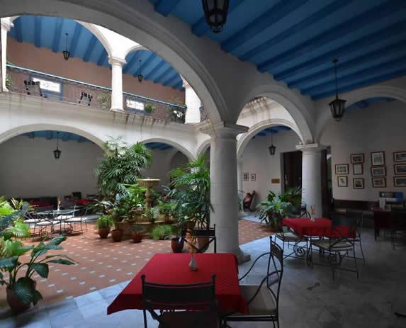 Inner courtyard at the Santa Isabel hotel