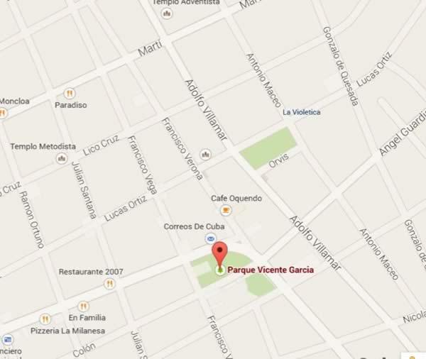 PLaza Martiana,map, Las tunas, cuba
