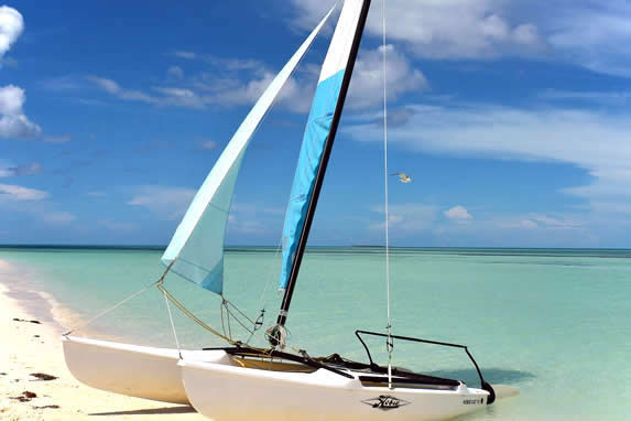 catamaran on the shore of the beach