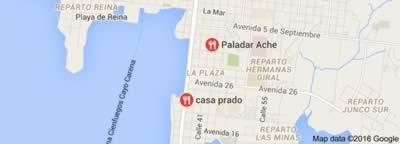 Restaurante Casa Prado, Cienfuegos, Cuba,mapa