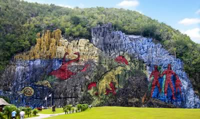 Mural of prehistory, Viñales, Cuba