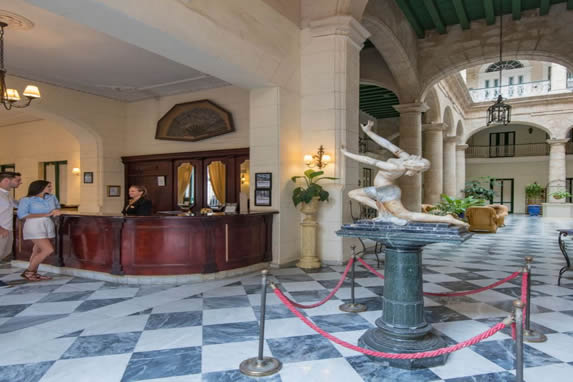 Florida hotel lobby and reception