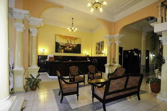 reception desk in living room